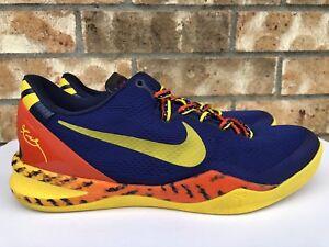 aac72959c2f3 Men s Nike Kobe 8 System Barcelona Tiger Basketball Shoes Size 9.5 ...