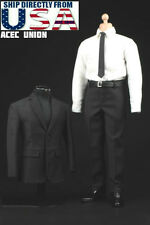 1/6 Men Agent Suit Set For Phil Coulson Hot Toys Phicen Male Figure USA SELLER