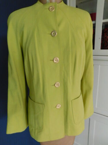 ST. JOHN (yellow label) CHARTREUSE GREEN dress PAN