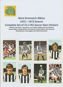 WEST-BROMWICH-ALBION-1972-1973-COMPLETE-SET-OF-15-FKS-SOCCER-STARS-STICKERS