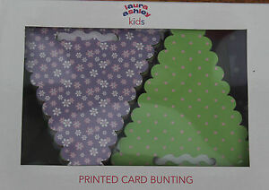 LAURA-ASHLEY-KIDS-PRINTED-CARD-BUNTING-BOXED-amp-PERFECT