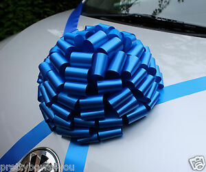 New-CAR-Giant-Bow-Large-Wedding-Birthday-PRESENT-Baby-Boy-Gift-Bow-ROYAL-BLUE