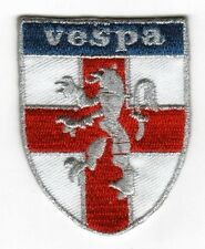 Iron On/ Sew On Embroidered Patch Badge Vespa Shield MOD England St George Lion