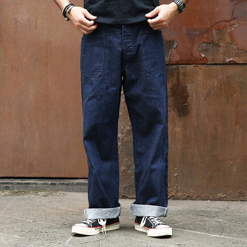 Bronson Retro 1917 US Navy Pants WWI Uniform Uniform Uniform Weiß Listed Jeans Selvedge Denim 9de