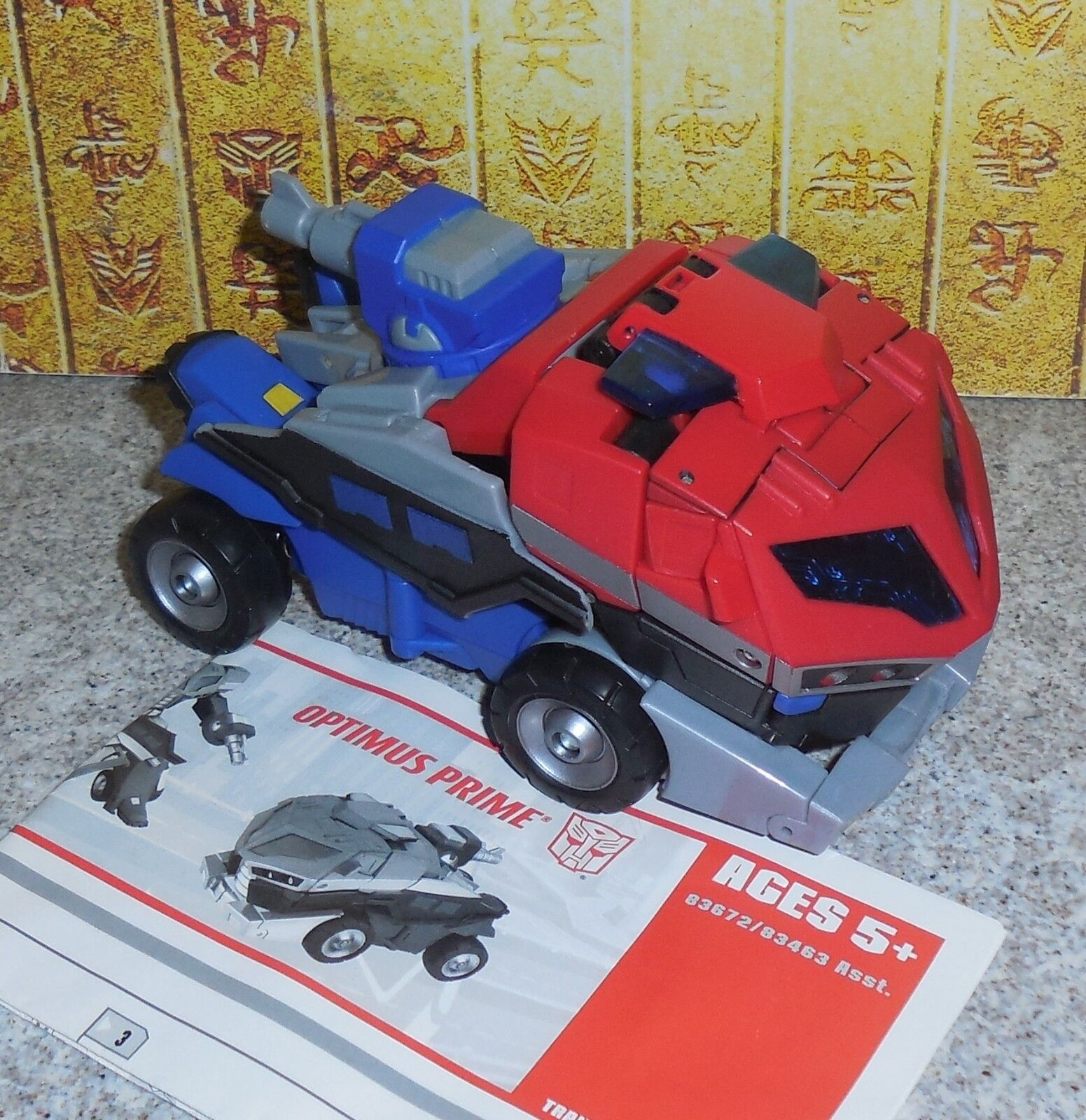Transformers Animated OPTIMUS PRIME Complete Hasbro Voyager