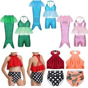 Toddler Kid Baby Girls Tankini Bikini Set Swimwear Swimsuit Bathing Suit 18M-16Y