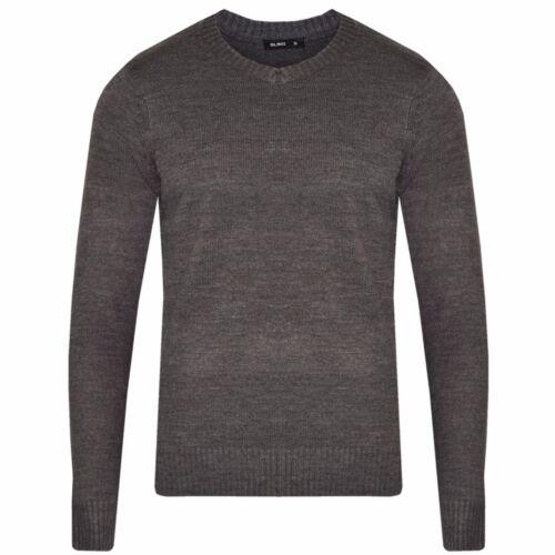 Mens Sweatshirt  Knitwear Sweater Jumper Pullover V Neck Long Sleeve Top Bling