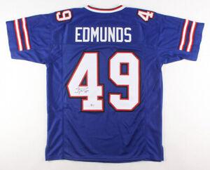 huge selection of e47c0 b2594 Details about Tremaine Edmunds Signed Bills Jersey (Beckett COA) Buffalo's  2018 #1 Draft Pick