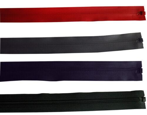 negro rojo antracita 75,80cm Cremallera 5mm impermeable 18 70