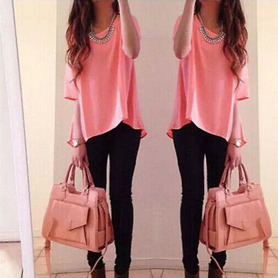 Women Summer Loose Casual Cotton Sexy Vest Tee Shirt Tops Blouse Ladies Top