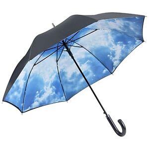 Aufrichtig Regenschirm Automatik Stockschirm Stabil Double Layer Hamburger Himmel 5766dl Halten Sie Die Ganze Zeit Fit Kleidung & Accessoires Schirme