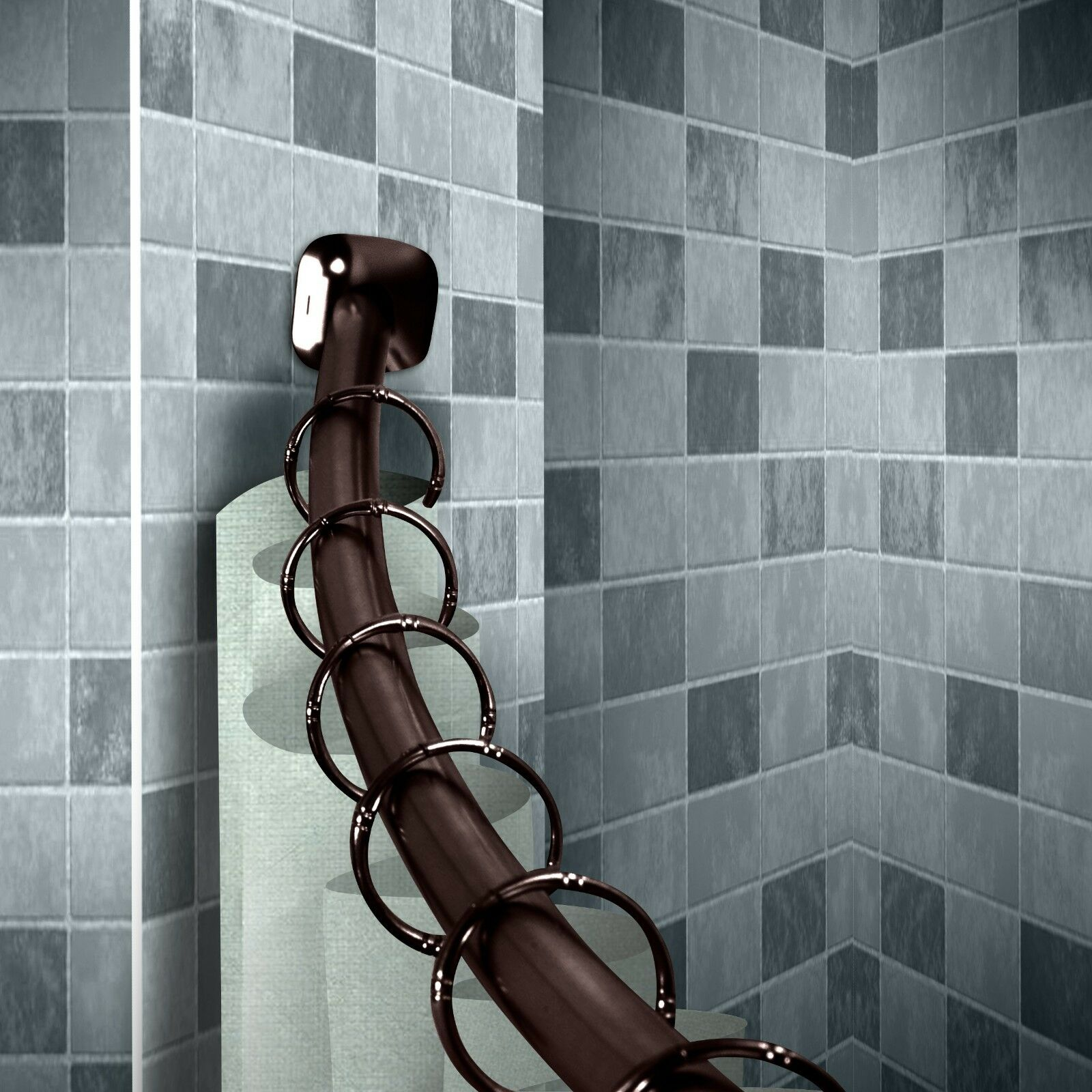 1 Curved Shower Curtain Rod 41 72 Choose From 2 Colors