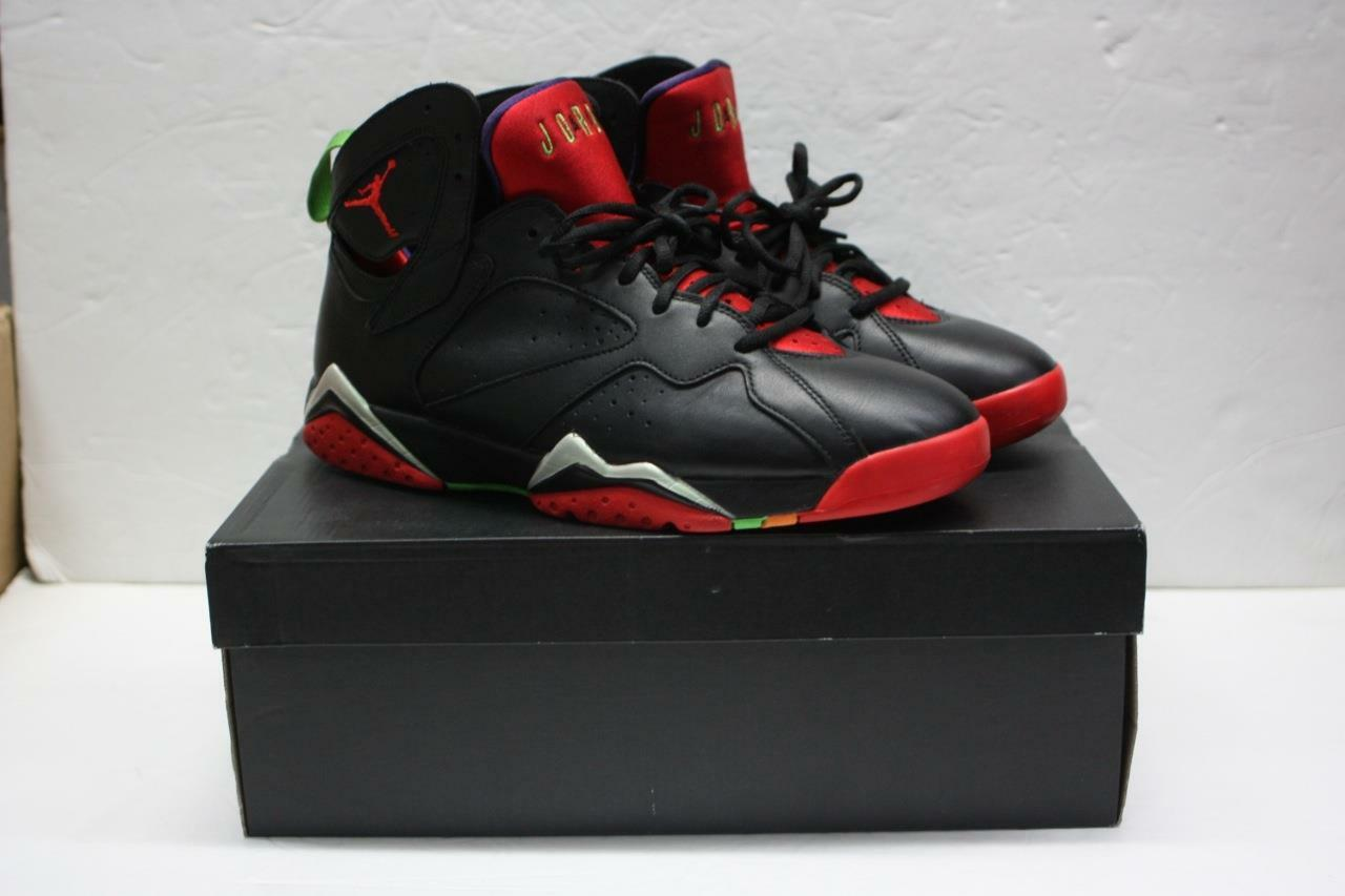 Air Jordan 7 Retro Marvin the Martian Black/University Red 304775-029 SZ 10.5