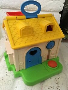 Details About Fisher Price Discovery Cottage Little People 1984 Baby Activity House Toy