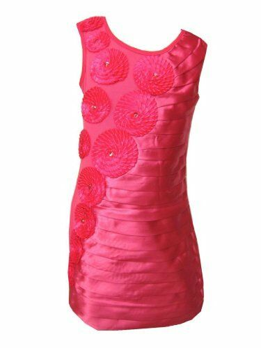 Girls Party//Casual Dress Sleeve-Less Shiny Effect Glitzy Dress Ages 3Y 12Years
