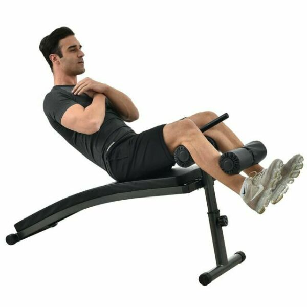 Details about  /Finer Form Sit Up Bench with Reverse Crunch Handle for Ab Bench Exercises Red