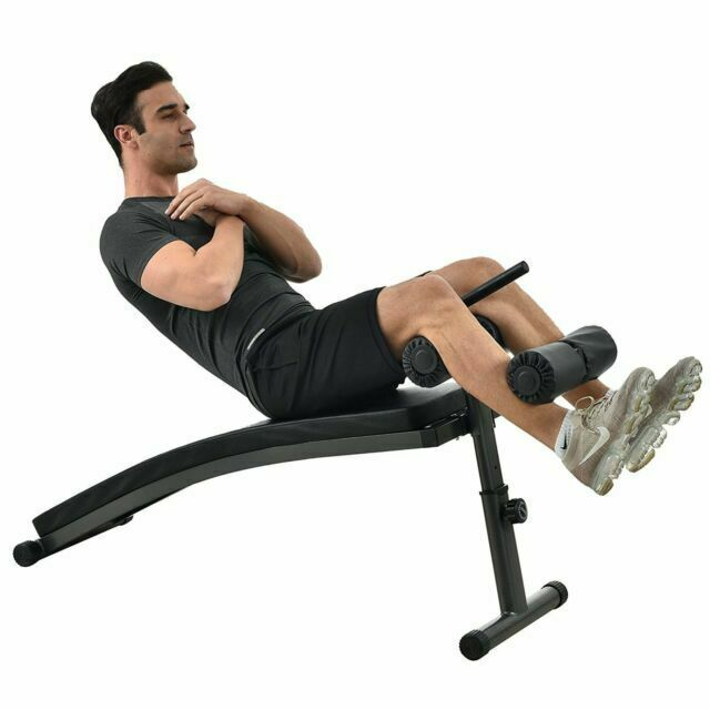 Finer Form Sit Up Bench With Reverse Crunch Handle For Ab Exercises Black For Sale Online Ebay