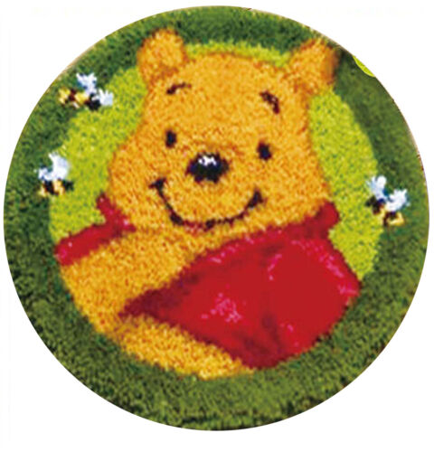 ROUND SHAPE- WINNIE THE POOH NEW LATCH HOOK RUG KIT 50 X 50 CM IN CHINA