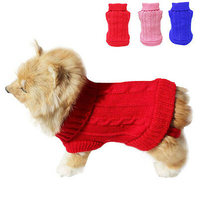 Small Dog Cat Clothes Winter Warm Sweater Knitwear for Dogs Puppy Coat Apparel