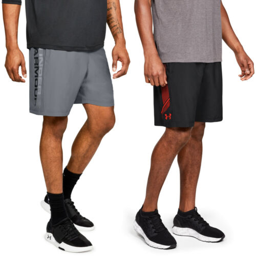 2er Pack Under Armour Woven Graphic Shorts schwarz und grau