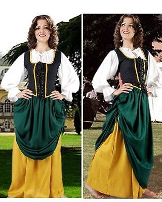 Medieval Skirt Double Layer Sizes S/M - XXL Rayon BRAND NEW  (C1107)
