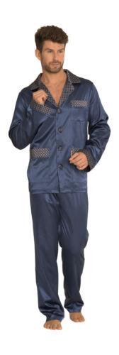 Men Long Sleeve Pyjama Set Satyna//939