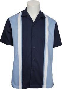 Size Camicia Daddy Majestic Us Bowling M Blue 3xl Rockabilly os q707ZI