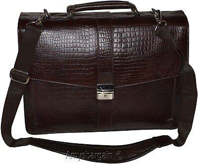 Nuovo Pelle Coccodrillo Stampato In Marrone Business Custodia Attaché Sac Bag Fresco In Estate E Caldo In Inverno
