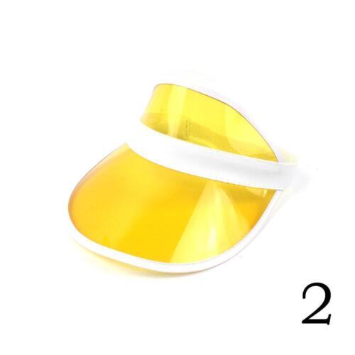 Sommer-PVC-Hut-Sonnenblende-beiläufiger Unisexhut durchsichtigePlastikkappe K5R9