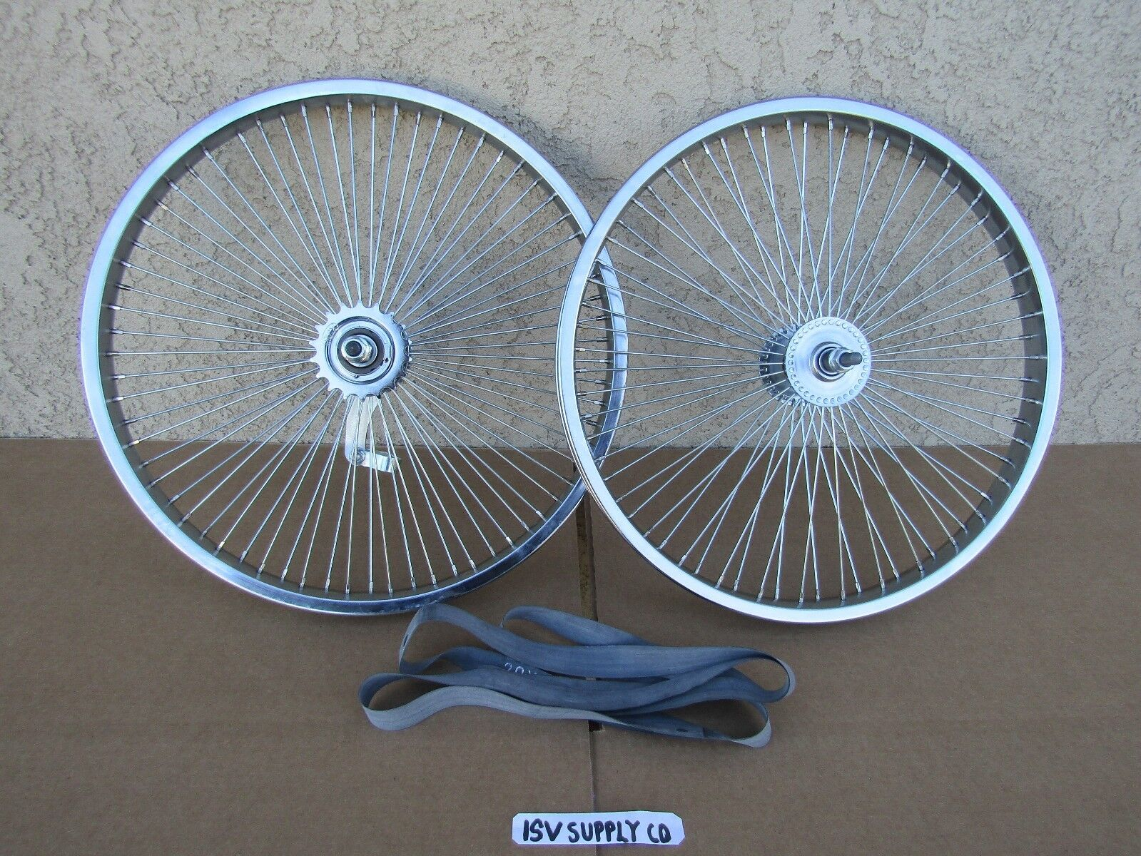 NEW BICYCLE 20'' x 1.75 LOW-RIDER WHEEL SET 68 SPOKES , LOWRIDER, BMX, TRICYCLE