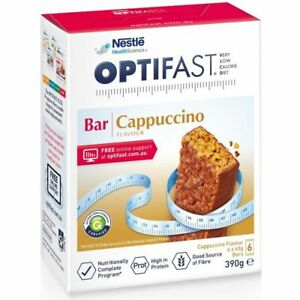 Optifast VLCD Cappuccino Bar 65g X 6 Bars Low Calorie Diet