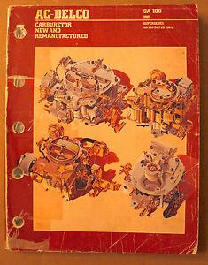 1985 Ac Delco Carburetor Catalog Applications Buyers Guide Cross