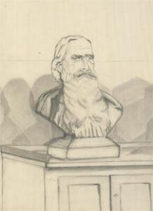 Simon Cesarani - Set of 3 Mid 20th Century Graphite Drawings, Busts