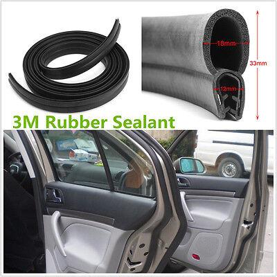 3M Rubber Car Door Black Rubber O U Channel Edge Edging Trim Seal Trunk Strips