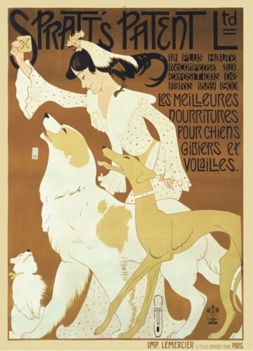 1909 by Auguste Roubille POSTER 14x11 Spratt/'s Patent Ltd ca VINTAGE ART PRINT