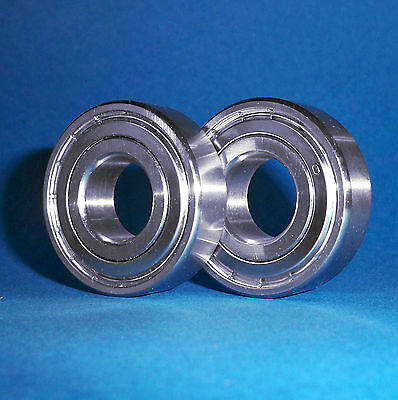 2 Kugellager 6206 ZZ / 30 x 62 x 16 mm