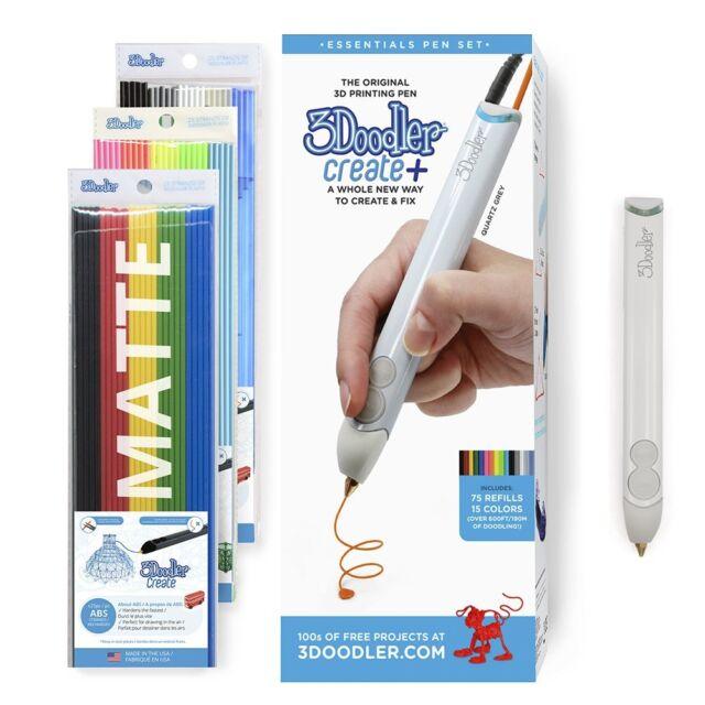 3Doodler Create+ 3D Pen Set With 75 Filaments Decorate Art Design Tool (AU Plug)