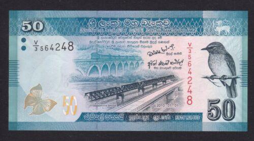 P124a banknote Sri Lanka 50 Rupees UNC 2010