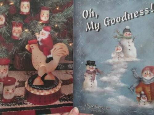 Oh My Goodness Painting Book-Thompson-Snowmen//Santas//Angels//Gingerbread Kids
