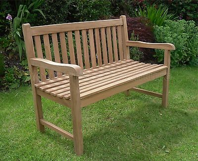Java Teak 2 Seat Garden Bench 120cm Chunky Quality Garden Furniture
