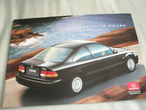 Image Is Loading Honda Civic Coupe Brochure Feb 1996
