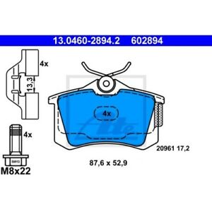 ATE-Bremsbelagsatz-Scheibenbremse-AUDI-A2-8Z0-AUDI-A3-8L1-AUDI-TT-8N3