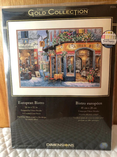 "Dimensions Gold Collection European Bistro Counted Cross Stitch Kit-16/""X11/"" 16 C"