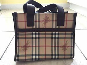 c9cd54b3c9d Image is loading NEW-Small-Vintage-Burberry-Tote-Bag-10-5x8-