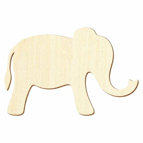 Deko Zuschnitte Größenauswahl Einfacher Holz Elefant