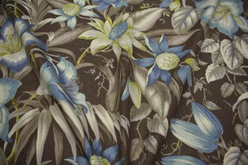 "Tommy Bahama Upholstery Drapery Fabric Print 54/""W Botanical Glow Nutmeg Floral"