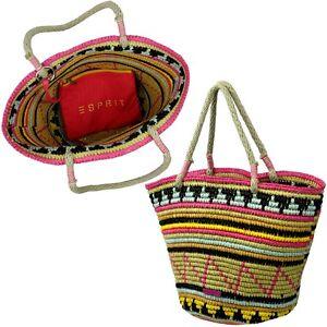 Urlaub-Sommer-Strand-Tasche-Handtasche-ESPRIT-TrageSchultertasche-Material-weich