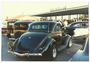 Vintage 80s Photo Old Vintage Cars At Drive In Ebay