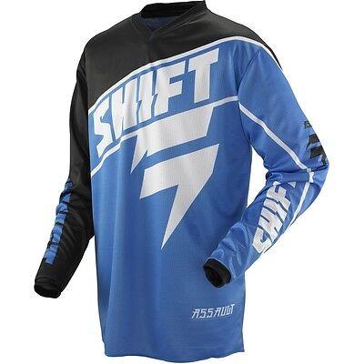 NEW SHIFT Racing Blue Assault Jersey motocross atv off road adult