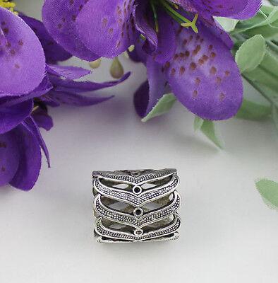 5pcs Tibetan silver folding rack scarf ring T19518